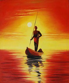 Pintura-de-la-mano-mujeres-en-barco-decoración-pintura-al-óleo-colgar-un-cuadro-para-el.jpg (848×1024)