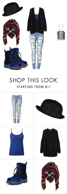 """meh"" by smile12-13 ❤ liked on Polyvore featuring Hudson Jeans, River Island, Organic by John Patrick and Essie"