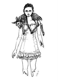 pen illustration melting body