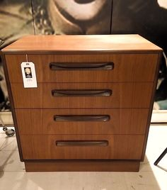 1970s G-Plan Teak & Afromosia FRESCO Chest of 4 drawers