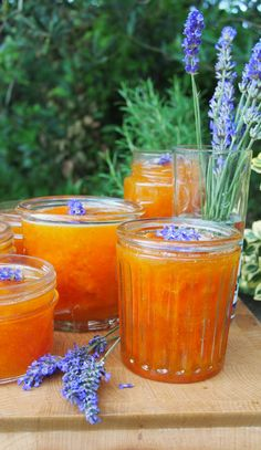 ~ A Provence Summer Preserve ~ French Set Apricot and Lavender Jam (Confiture) - Tastes absolutely delicious. But: I had to cook for a much longer time and it made only Lavender Jam, Lavander, Jam Tarts, Smoothies, Jam On, Jam And Jelly, Canning Recipes, Canning Tips, Edible Flowers