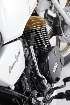 Yamaha Rd 400 Daytona Special that was built as a fully custom cafe racer. Atlanta Motorcycle works builds custom cafe racers, and vintage restorations. Yamaha Motorbikes, Engineering Works, Custom Cafe Racer, Motorcycle Engine, Custom Motorcycles, Atlanta, It Works, Bikers, Motivational Quotes