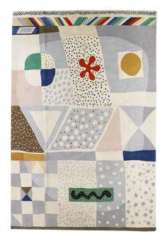 "design-is-fine: ""Josef Frank, hand-tuffed carpet ""Matta nr For Svenskt Tenn, Sweden. Via Bukowskis. Textile Patterns, Textile Design, Textile Art, Fabric Design, Pattern Design, Print Patterns, Textiles, Josef Frank, Illustrations"