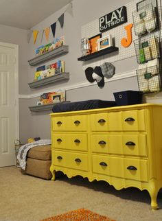 Looking for a dresser like this versus buying a changing station.  @Gerri Kemper - This is what I'm envisioning...only different color.