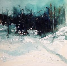 "Winter Thaw by Richard Morin Oil ~ 12"" x 12"""