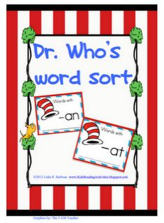 pocket chart activity to sort words with -an and -at -  Pinned by @PediaStaff – Please Visit http://ht.ly/63sNt for all our pediatric therapy pins