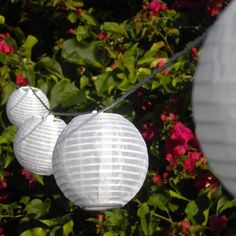 Allsop Home and Garden Soji Mini Solar String of Ten Lanterns, White, Outdoor Solar Lanterns, Solar Led String Lights, Lantern String Lights, White String Lights, Outdoor Lighting, Memorial Stones, Chinese Lanterns, Party Shop, Paper Lanterns