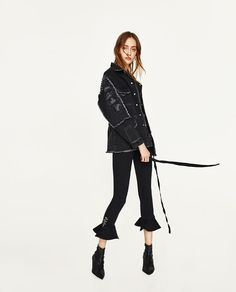 Beaufille collection includes extreme wide leg trousers (Zara)