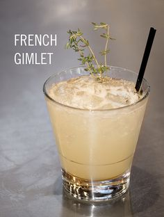 french gimlet / hendricks + lillet blanc + st. germain