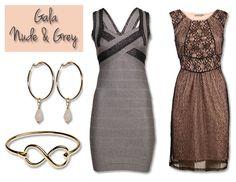 Dresscode Gala! Kleuren Nude and Grey Geeft een extra romantisch gevoel. Voor stylingsadvies en tips kijk dan snel op www.dressesonly.com #dressesonly #advice #prom #gala #lbd