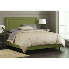 Skyline Furniture Skyline Furniture Panel Bed - khaki