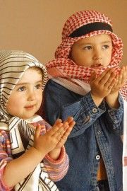 Praying Muslim Children