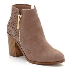 Perforated Suede Boots