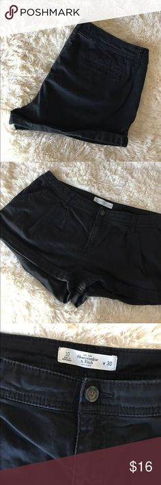 BOGO 🐳 Abercrombie & Fitch Black Shorts Gently worn. No flaws. Cuffed hem. Waist 30. 🐳 Thursday-Sunday: Buy one get one free! Bundle the items and make an offer with the greater value. Abercrombie & Fitch Shorts