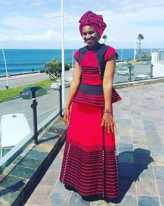 xhosa attire 2019 for African girls - fashion ShweShwe 1 African Party Dresses, Latest African Fashion Dresses, African Dresses For Women, African Print Dresses, Xhosa Attire, African Attire, African Wear, African Style, Sotho Traditional Dresses