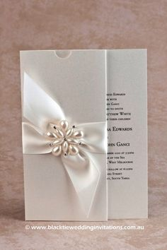 Ocean Pearl: Invitation http://blacktieweddinginvitations.com.au/galleries/premium-wedding-invitations/ocean-pearl
