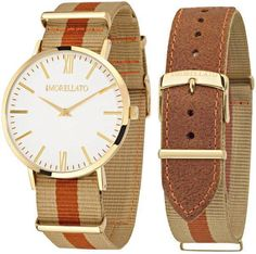 Features: Gold Tone Stainless Steel Case Leather+tissue Strap Quartz Movement Caliber: Mineral Crystal Beige Dial Analog Display Solid Case Back Buckle Clasp Water Resistance Approximate Case Diameter: Approximate Case Thickness: Watch Sale, Krystal, Stainless Steel Case, Quartz Watch, Watches For Men, Beige, Leather, Stuff To Buy, Accessories