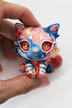 Fimo cat  Polimerclay cat Kitten Universe