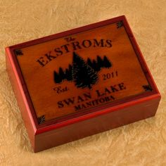 DETAILS:  Keep your cigars at their freshest with this sturdy sublimated cigar humidor. The rustic