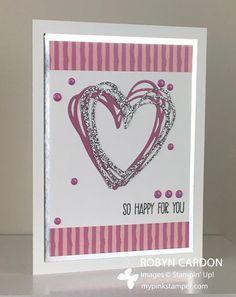 My Pink Stamper: Stampin' Up! Sunshine Sayings Sweet Sugarplum & Silver Card!