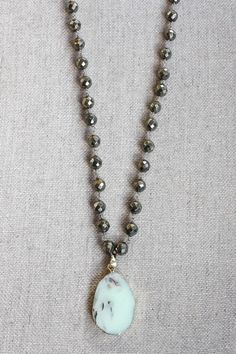 B. Alli Turquoise & Pyrite Necklace