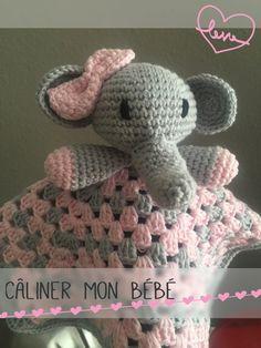 Doudou elephant!! Materiales 100% algodón. Información en página de Facebook: Câliner mon bébé