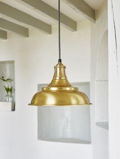 Antique Brass Pendant #nordichouse #lighting #pendant #lamp #scandi