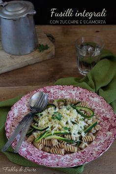 Insalata di fusilli integrali con zucchine e scamorza, un piatto delizioso e…