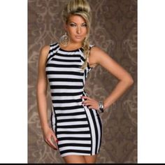 slimaim Wholesale Form-fitting Stretch Mini Dress in Strips Modest Dresses, Tight Dresses, Cheap Dresses, Sexy Dresses, Cute Dresses, Vintage Dresses, Fashion Dresses, Dresses 2016, Mini Dresses