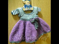Πλεκτο Φορεμα #2 (μερος 1o)/ Crochet Dress Tutorial #2 (part 1) How to start a garment from the top instead of bottom