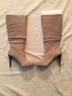 #ebay NIB Banana Republic Elizar Ruched Knee Boots, Taupe Suede, Size 9 #BananaRepublic  #ebaysale #forsale #sale