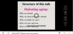 E' possibile evitare l'invecchiamento? / A roadmap to end aging