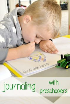 How to journal with preschoolers - Stay At Home Educator