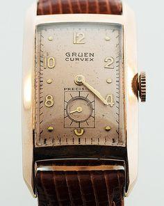 Vintage Gruen Curvex Sovereign 14k Rose Gold by SITFineJewelry, $3500.00   ahhh!