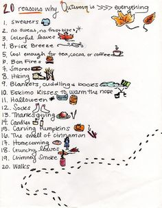 """20 reasons why Autumn is >>> everything"" #autumn #fall #love"