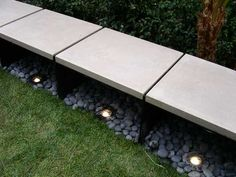 #landarch lighted bench
