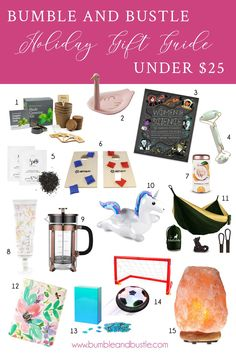 e579a45cbfe Holiday Gift Guide For Everyone Family 2018 Under $25 By Bumble and Bustle  For Everyone,