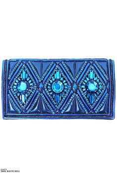 Blue Balmain clutch F/W 2013/14 #watters #somethingblue www.pinterest.com/wattersdesigns