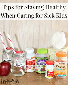 12 Tips for Staying Healthy When Caring for Sick Kids - Includes tips to help minimize the spread of germs in your home and to other family members.