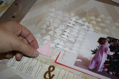 Picture tutorial on how Ashli made her layout for the Simon Says Stamp Monday Challenge (To Use a Stamp)  December 2013