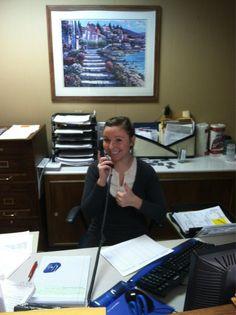 Hillary handling the phones!! www.paradisoinsurance.com  #paradisoinsurance