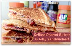 Grilled #PeanutButter & Jelly #Sandwiches - My kids grew up on these! Once you have them grilled, you'll never go nack!! http://www.savingeveryday.net/2014/01/grilled-peanut-butter-jelly-sandwiches/