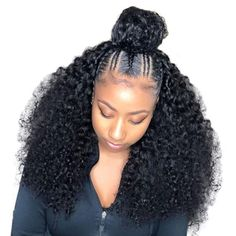 360 Lace Frontal Wig Pre Plucked With Baby Hair Curly Human Hair Wigs For Women Black Density Brazilian Lace Wig Prosa Remy - Hair candy - Braided Hairstyles For Black Women, Braids For Black Hair, Black Hairstyle, Curly Hair Styles, Natural Hair Styles, Box Braids Hairstyles, Hairstyle Ideas, Wedding Hairstyles, Hair Ideas