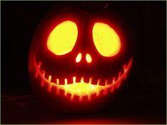 Jack Skellington pumpkin! ♥♥♥ I did one of our pumpkins like this...so cute! Nightmare before Christmas is the BEST! :)