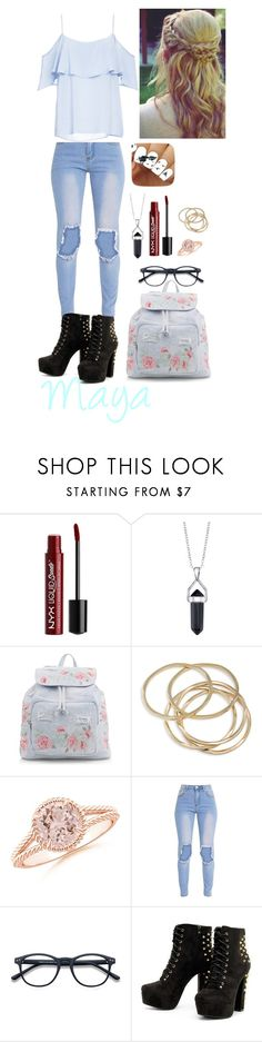 """""""Maya"""" by emilyramme ❤ liked on Polyvore featuring Charlotte Russe, Bridge Jewelry, New Look, ABS by Allen Schwartz, EyeBuyDirect.com and BB Dakota"""