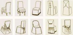 Pokrowce na krzesła z ich rąk: wzory, instrukcje, jak uszyć