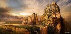 These are a series of concepts I produced during the pre production of the recent film King Arthur - Legend of the Sword. I spent a lot of time developing the look of Camelot. King Arthur Legend, Legend Of King, Fantasy Places, Fantasy World, Camelot Castle, Green Knight, Fantasy Castle, Medieval Castle, Fantasy Landscape