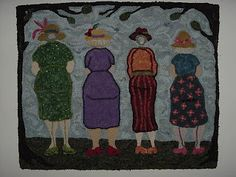 The Olde Gals adapted with permission from a quilt piece.