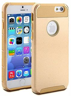 """myLife Egyptian Gold {NEO Flex Design} 2 Layer Hybrid Case for the NEW iPhone 6 (6G) 6th Generation Phone by Apple, 4.7"""" Screen Version (Single External Fitted Hard Protector Shell + Full Body Internal Silicone EASY-Grip Bumper Gel Protection) myLife Brand Products http://www.amazon.com/dp/B00NHZGYPK/ref=cm_sw_r_pi_dp_nsZpub0GVY3T1"""