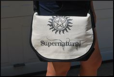 Custom -- Messenger Bag -- Pop Lid -- Removable Lid -- Supernatural -- Doctor Who -- Avengers -- Loki -- SewGeekAustin. $45.00, via Etsy.